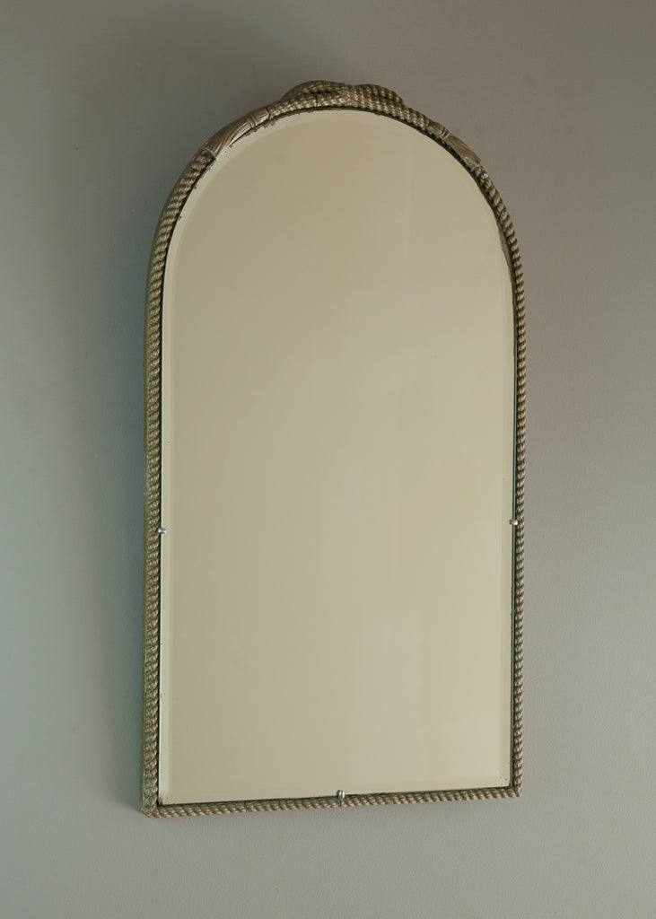 Silver Gilt Rope Twist Mirror