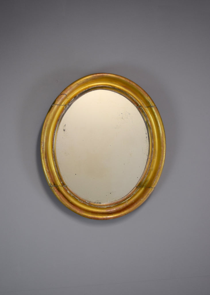 Gold Gilt Oval Mirror