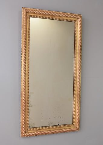 French Ripple Moulded Mirror - SOLD