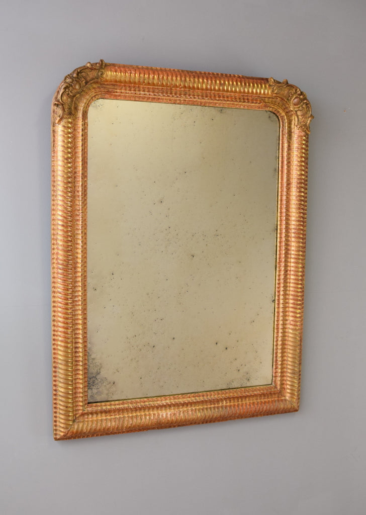 French Ripple Moulded Mirror