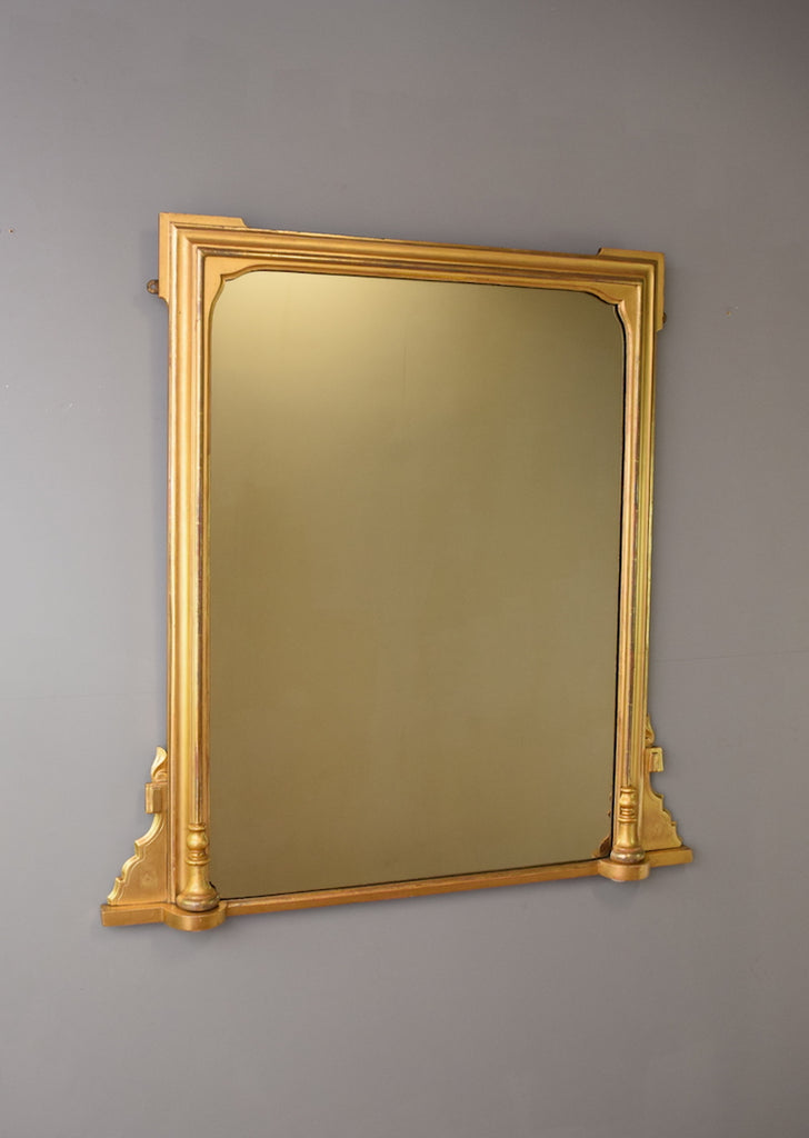 Early 20th Century English Gilt Overmantel Mirror