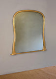 Late 19th Century English Gilt Hipped Overmantel Mirror