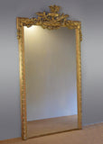 Large Impressive French Gilt Crested Mirror