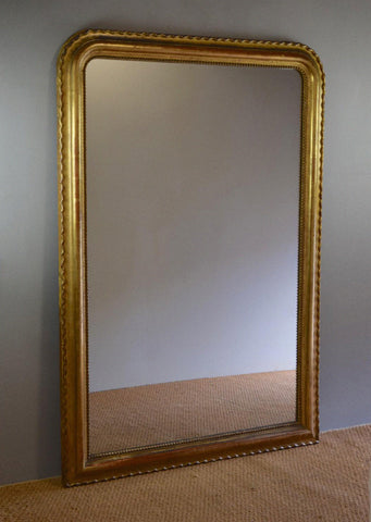 French Gilt Piecrust Antique Mirror | Rough Old Glass