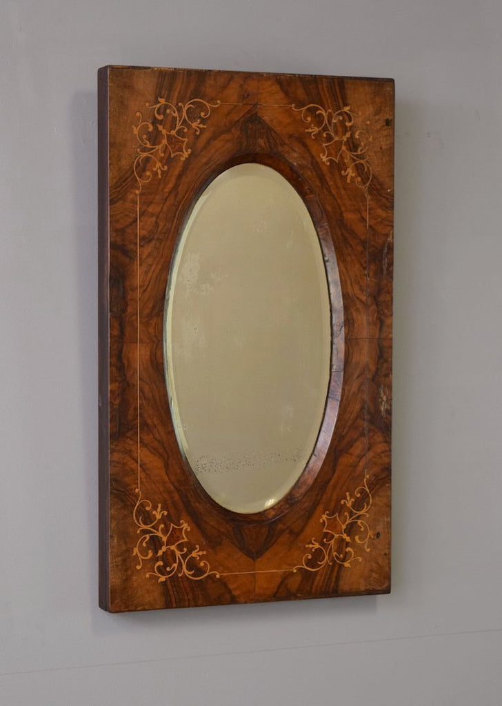 English Marquetry Mirror