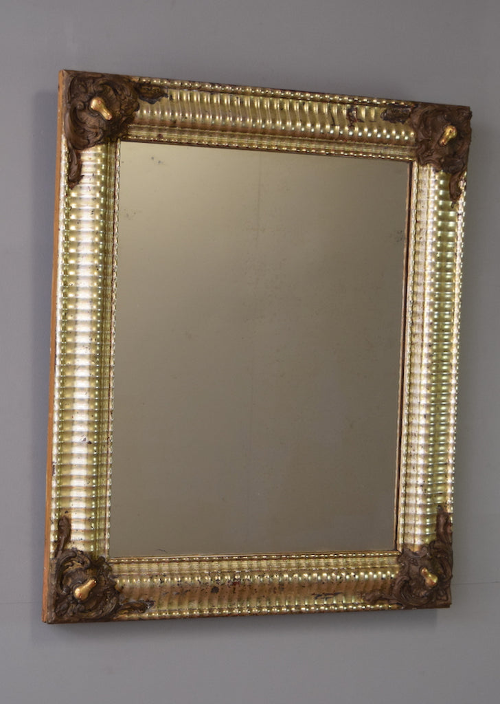 Mid 19th Century French Silver Gilt Mirror