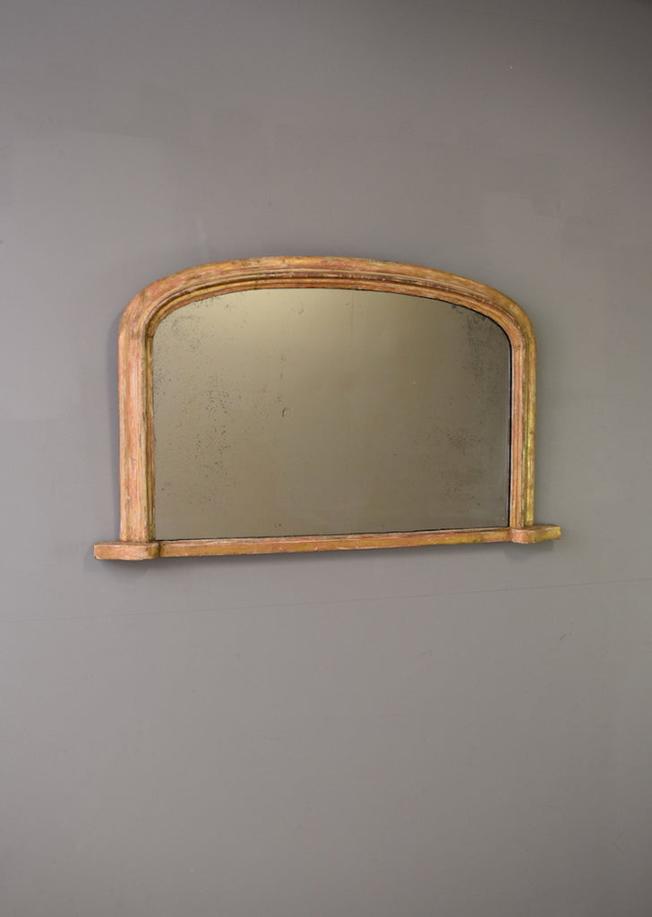 Late 19th Century Gilt English Overmantel Mirror