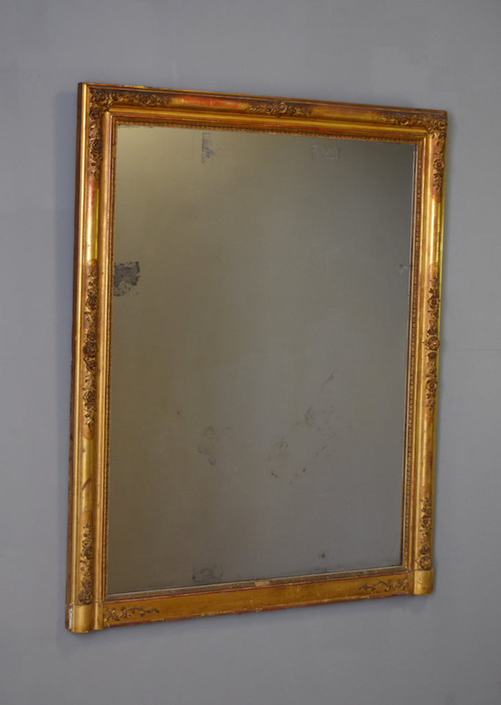 French Gilt Overmantel Mirror - SOLD