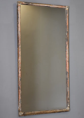 Late 19th Century Distressed French Painted Bistro Mirror