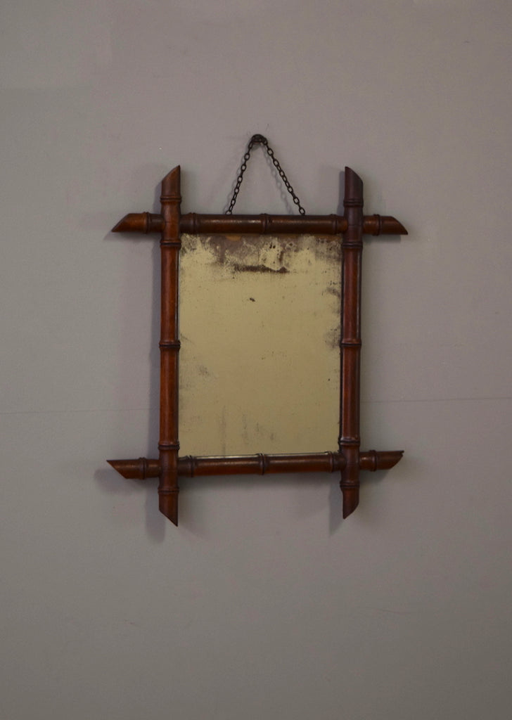 Faux Bamboo French Mirror