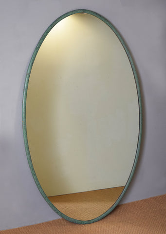 Large Painted Oval Mirror