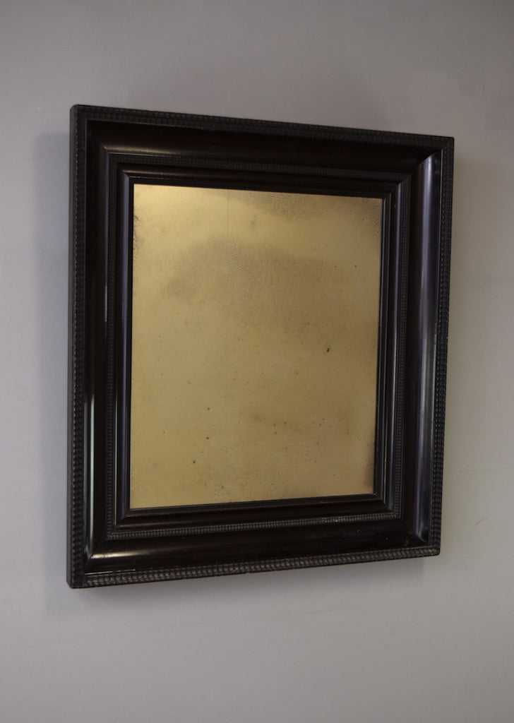 Rectangular Late 19th Century English Ebonised Mirror