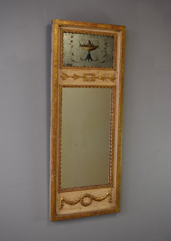 Late 19th Century Carved Wood French Trumeau Mirror