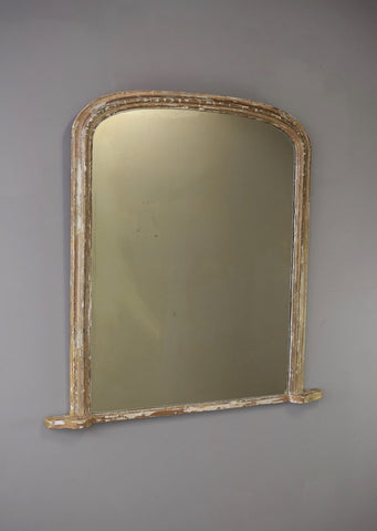 Late 19th Century English Overmantel Mirror