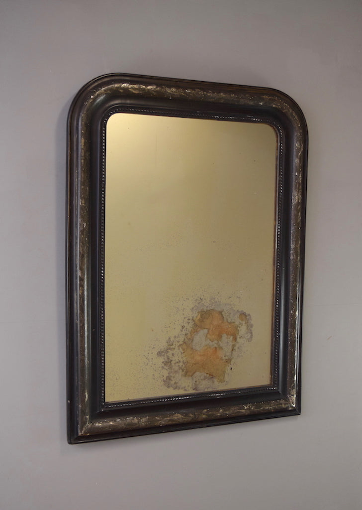 Ebonised French Mirror