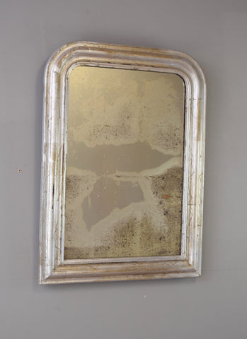 Late 19th Century French Softly Worn Silver Gilt Mirror