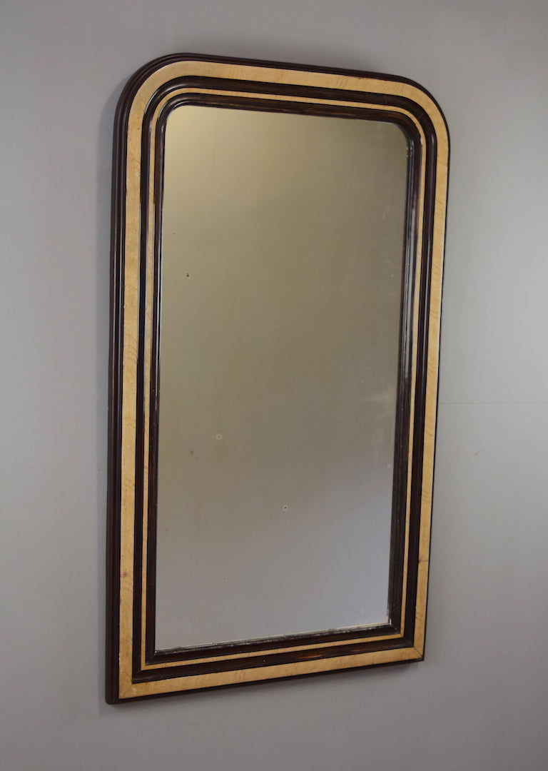 late 19th century french painted mirror rough old glass