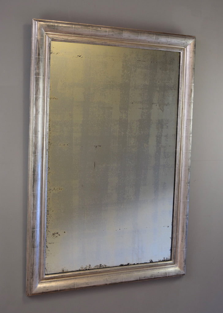 French Silver Gilt Mirror | Rough Old Glass