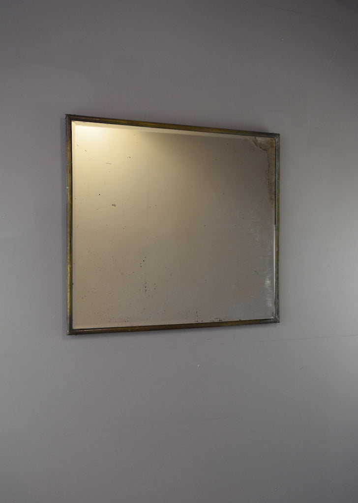 English Brass Mirror