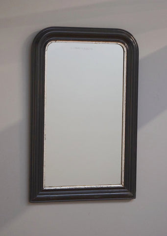 French Ebonised Antique Mirror | Rough Old Glass
