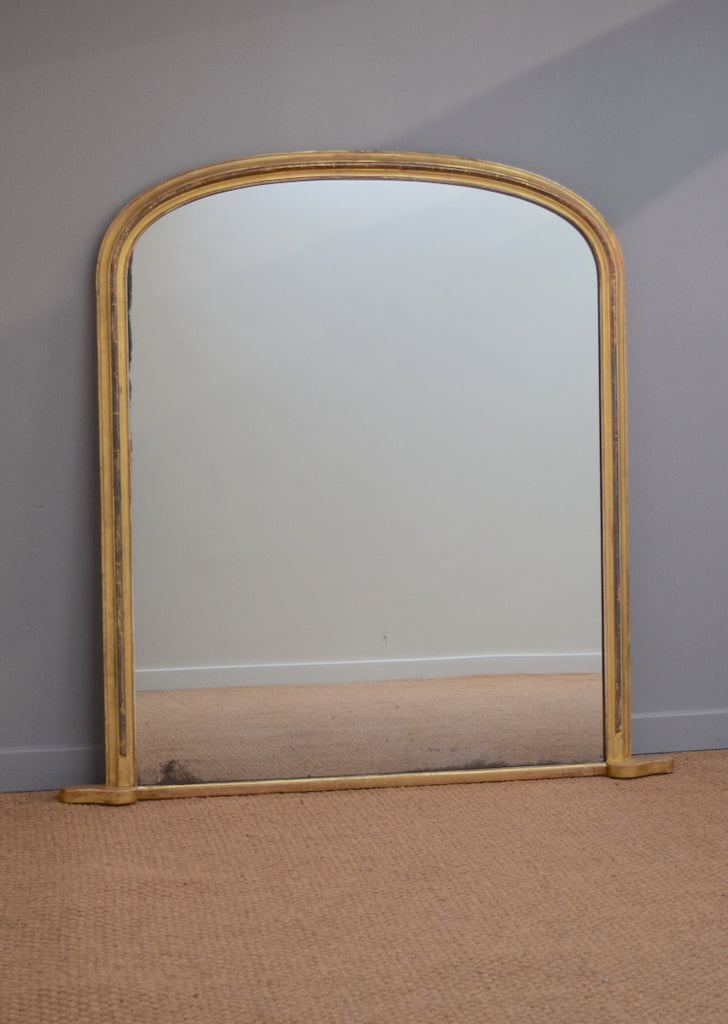 Mid 19th Century English Gold Overmantel Mirror