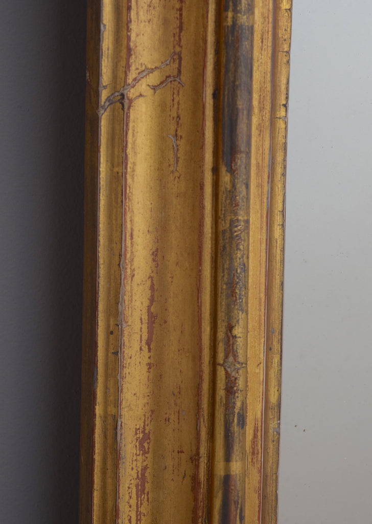 Late 19th Century Gently Worn English Gilt Overmantel Mirror