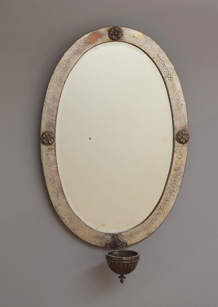Oval Arts and Crafts Mirror
