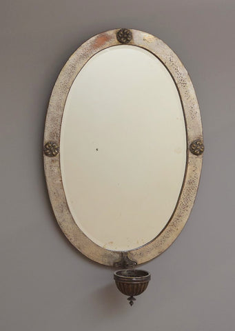 Late 19th Century Oval Arts and Crafts Mirror