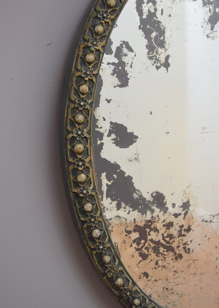 Pair of Painted Oval Mirrors