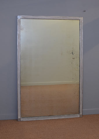 French Silver Gilt Antique Mirror | Rough Old Glass