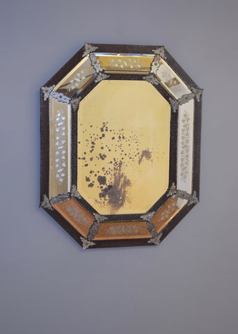 Venetian Mirror Circa 1900 with hand made panels
