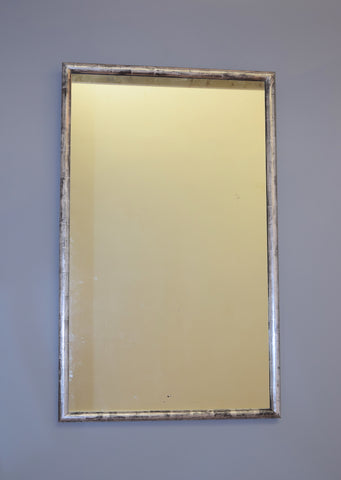 Late 19th Century French Silver Gilt Bistro Mirror