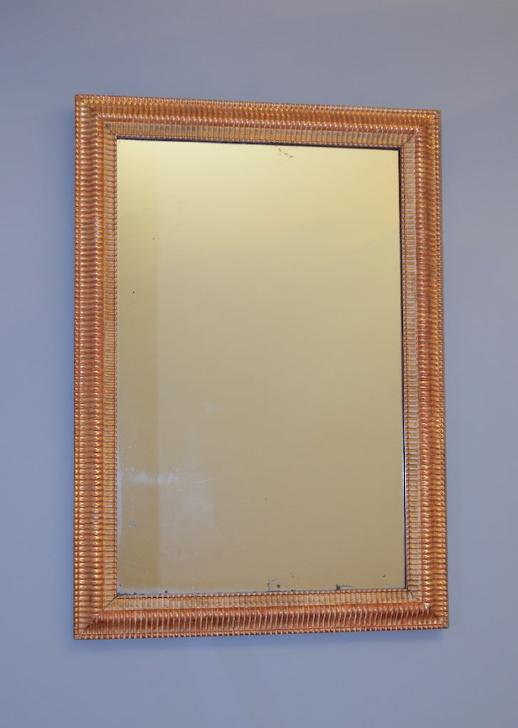 Gold Gilt Ripple Mirror