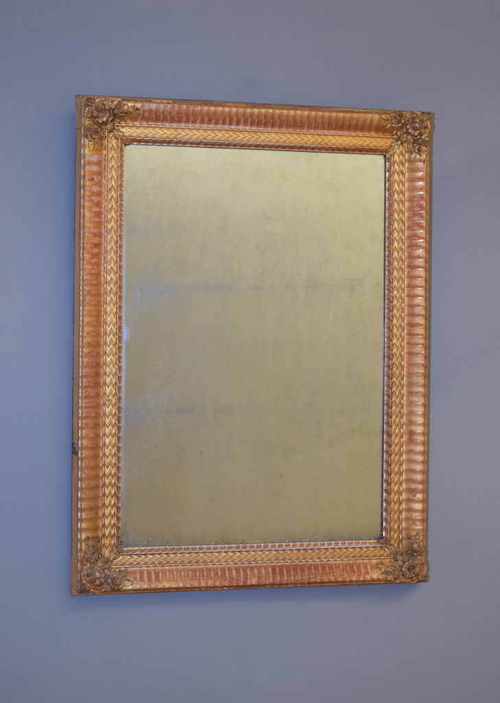 Mid 19th Century French Gold Gilt & Gesso Mirror