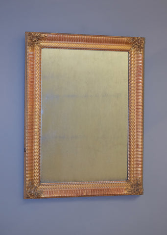 Mid 19th Century French Gold Gilt and Gesso Mirror