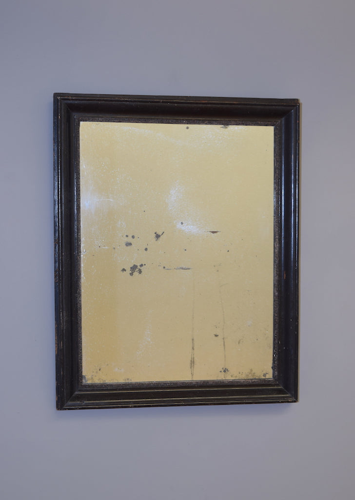 Mid 19th Century French Distressed Ebonised Mirror