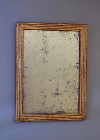 Early 19th Century French Gilt Reeded Mirror