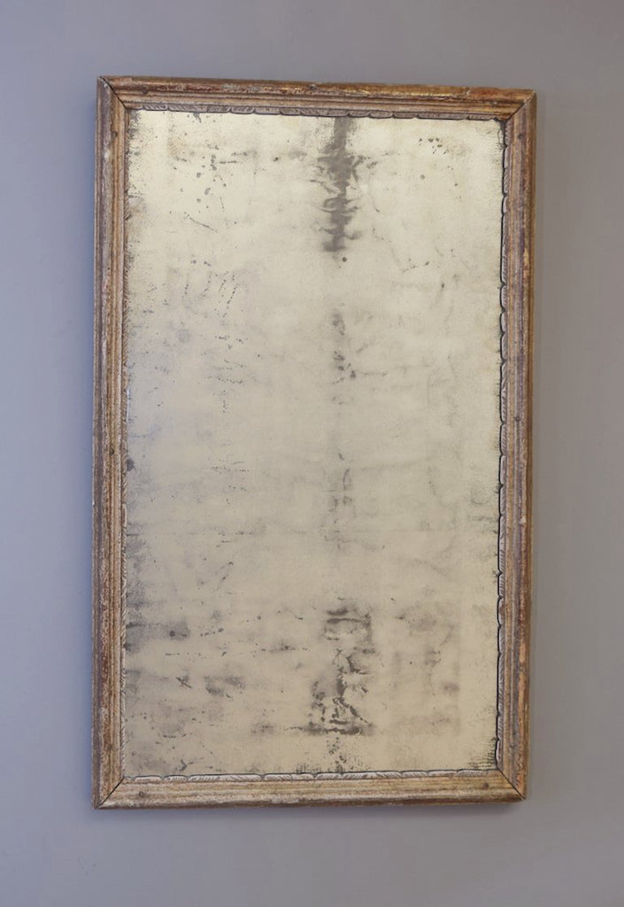 Gold Gilt Heavily Distressed Mirror
