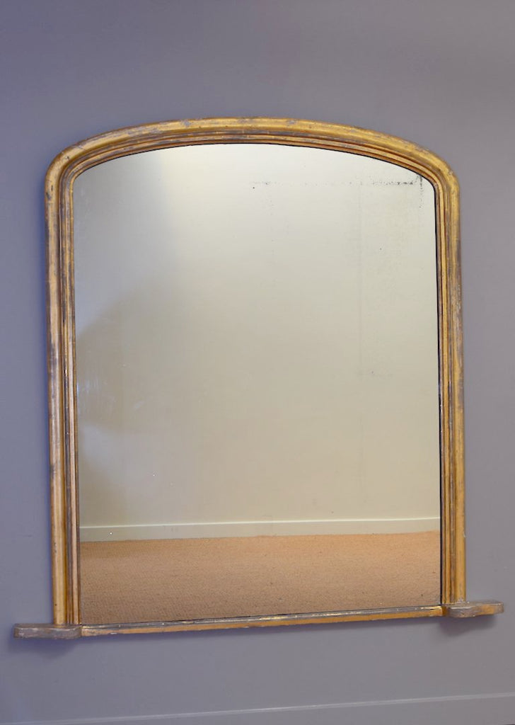 Early 19th Century English Large Gold Gilt Overmantel Mirror