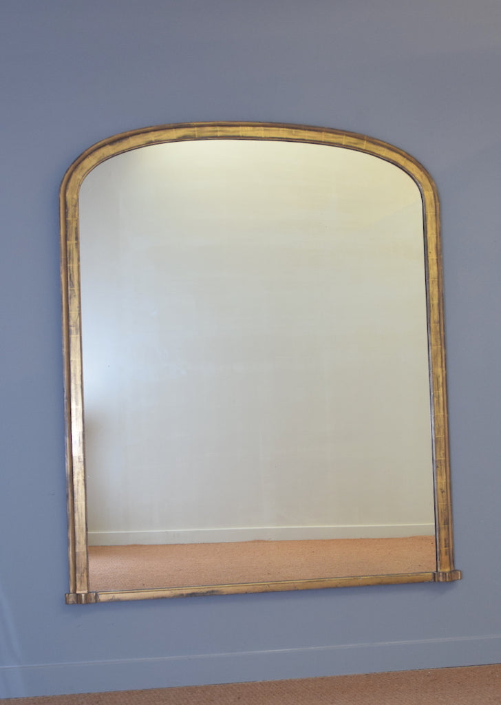 Early 19th Century English Gold Gilt over Taupe Bole Overmantel Mirror