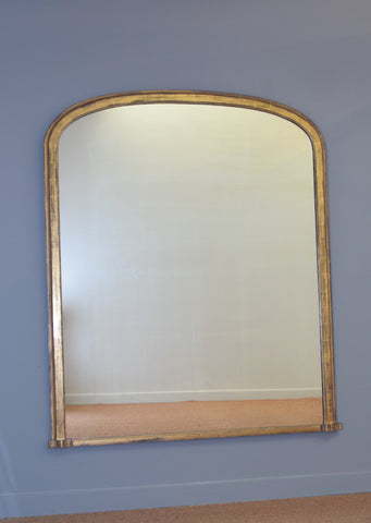 Late 19th Century English Gilt Overmantel Mirror