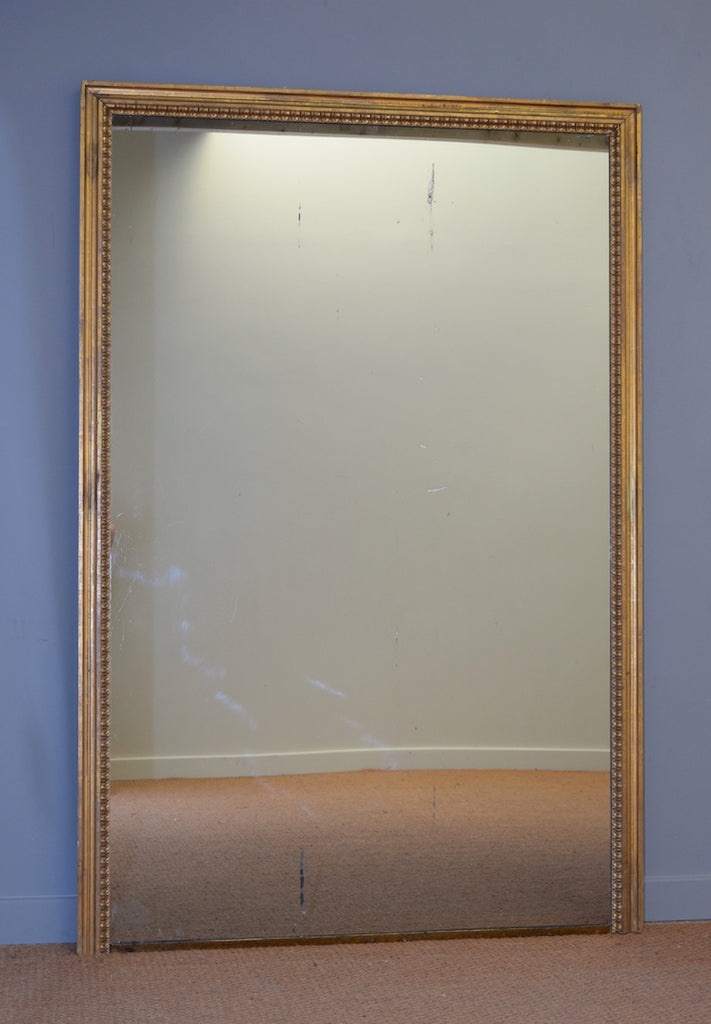 Gilt Mirror with Brass Base