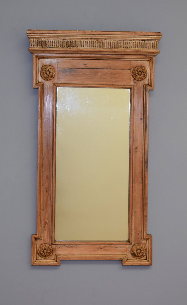 Carved Pine Framed Mirror