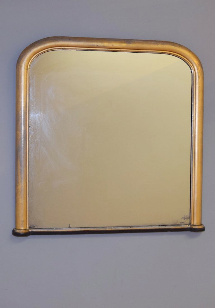 Early 19th Century Regency Gilt Mirror on Ebonised Plinth