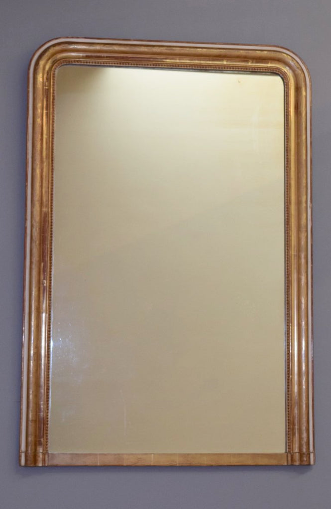 Gilt & Gesso French Overmantel Mirror