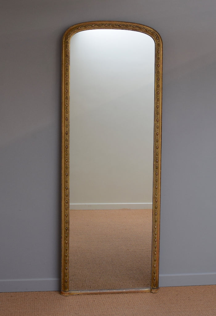 English Gilt Dressing Mirror