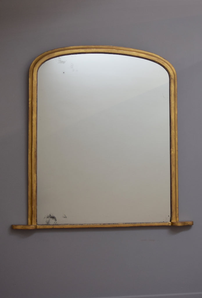 English Gilt Overmantel Mirror