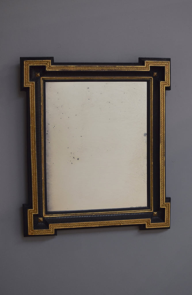 Flemish Ebonised & Gilt Mirror