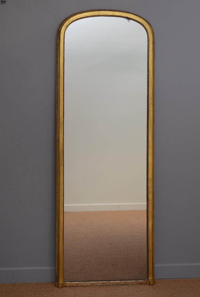 Tall English Gilt Dressing Mirror