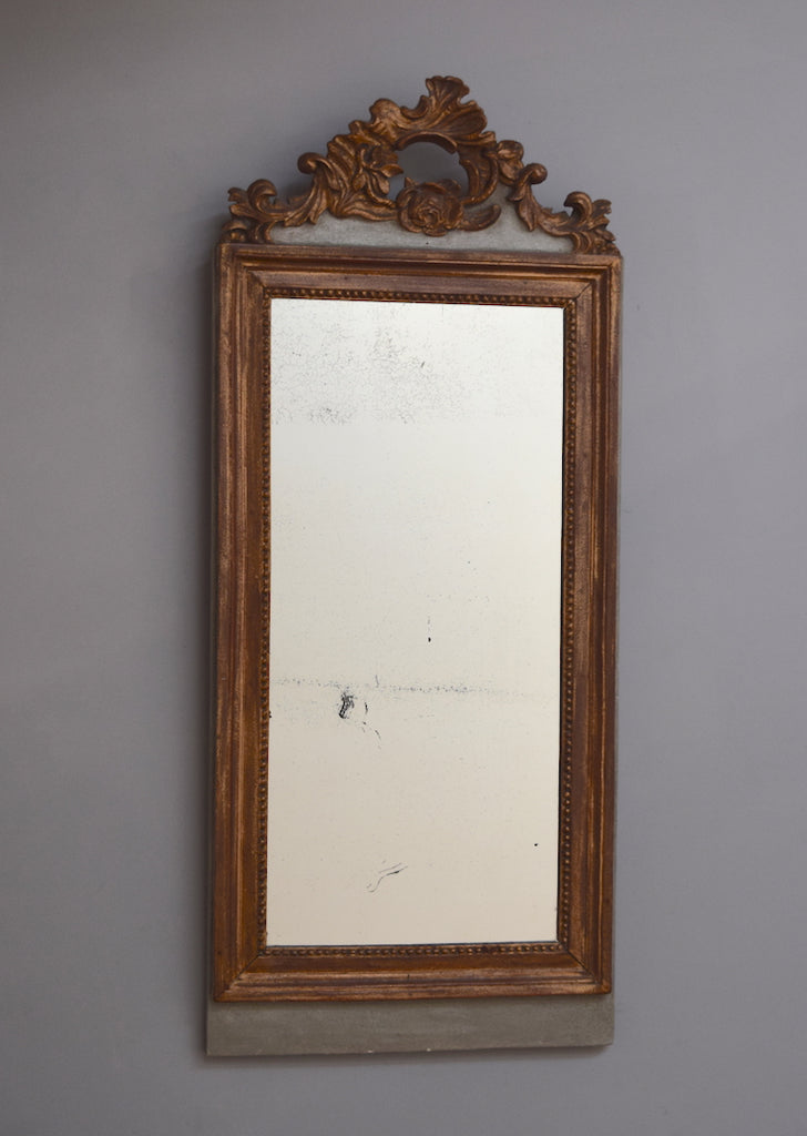 French Partial Gilt Mirror